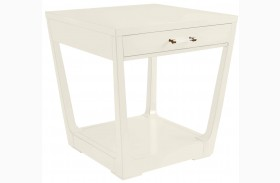 Coastal Living Oasis Saltbox White Meridian Square Lamp Table