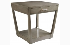 Coastal Living Oasis Grey Birch Meridian Square Lamp Table