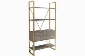 Coastal Living Oasis Grey Birch Harwell Bookcase