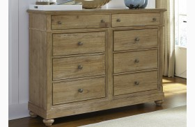 Harbor View Sand 8 Drawer Bureau