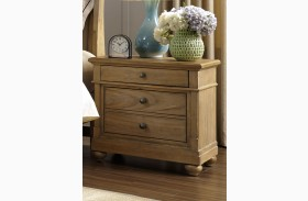 Harbor View Sand 2 Drawer Nightstand