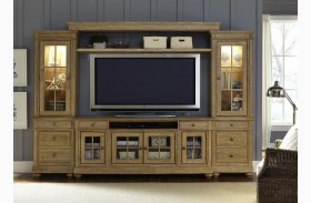 Harbor View Sand Entertainment Wall Unit with 62