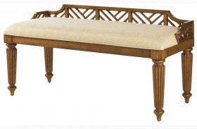 Island Estate Plantation Brown Plantain Bed Bench