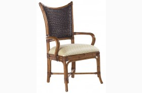 Island Estate Plantation Brown Mangrove Arm Chair