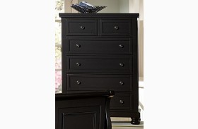 Reflections Ebony 5 Drawer Chest