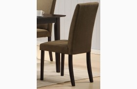 Weitzmenn Olive Microfiber Side Chair Set of 2