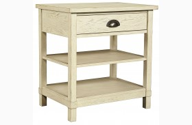 Driftwood Park Vanilla Oak Bedside Table