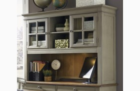 Bungalow Taupe Jr Executive Hutch
