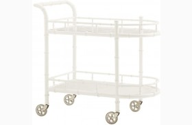 Ivory Key Warwick Tea Cart