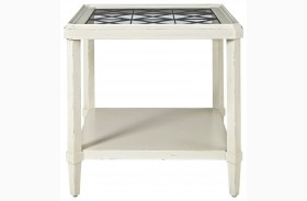 Sojourn Summer White End Table