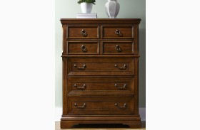 Laurelwood Chestnut 5 Drawer Chest