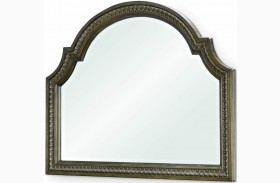 Renaissance Waxed Oak Arched Dresser Mirror