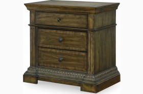 Renaissance Waxed Oak 3 Drawer Nightstand