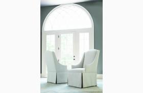 Renaissance Waxed Oak Upholstered Host Chair Set of 2