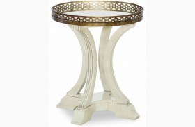 Renaissance Waxed Oak Gallery Round End Table