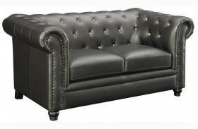 Roy Gunmetal Loveseat