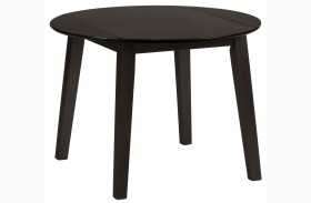 Simplicity Espresso Extendable Round Drop-Leaf Dining Table