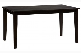 Simplicity Espresso Rectangular Dining Table