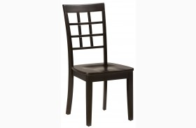 Simplicity Espresso Grid Back Chair Set of 2