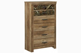 Habitat Rustic Buckskin 5 Drawer Chest