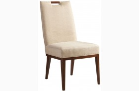 Island Fusion Coles Bay Gold Geometric Fabric Side Chair