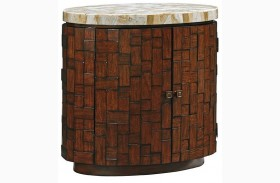 Island Fusion Banyan Oval Accent Table