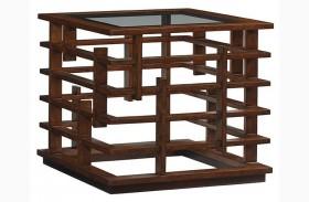 Island Fusion Nobu Square Lamp Table