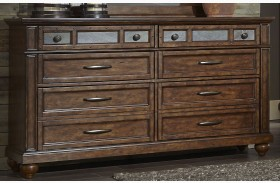 Coronado Tobacco 6 Drawer Dresser