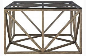 Authenticity Khaki Truss Square Cocktail Table