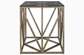 Authenticity Khaki Truss Square End Table