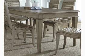 Grayton Grove Driftwood Extendable Rectangular Leg Dining Table