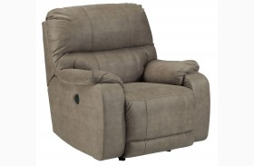 Bohannon Taupe Power Rocker Recliner