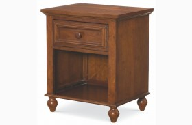 Academy Cinnamon 1 Drawer Nightstand