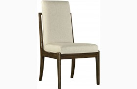 Santa Clara Burnished Walnut Upholstered Host Chair