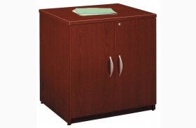 Series C Mahogany 30 Inch Storage Cabinet
