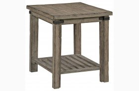 Foundry Driftwood End Table