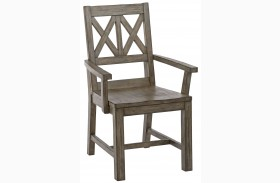 Foundry Wood Arm Chair Set of 2