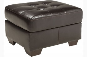 Coppell DuraBlend Chocolate Ottoman