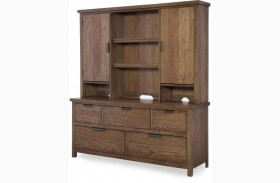 Fulton County Tawny Brown Dresser with Hutch