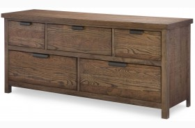 Fulton County Tawny Brown 5 Drawer Dresser