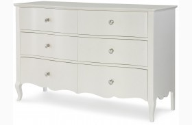 Tiffany Pearlized White Dresser
