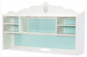 Tiffany Pearlized White Desk Hutch
