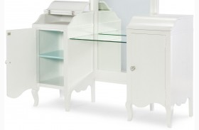 Tiffany Pearlized White Vanity