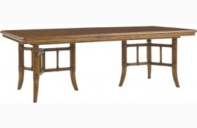 Bali Hai Fisher Island Double Pedestal Extendable Dining Table