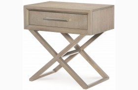 High Line Greige 1 Drawer Bedside Chest