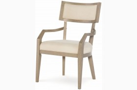 High Line Greige Klismo Arm Chair Set of 2