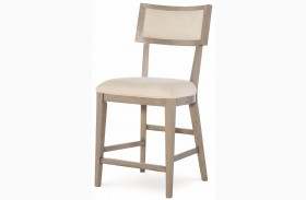 High Line Greige Pub Chair Set of 2