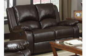 Boston Brown Reclining Loveseat