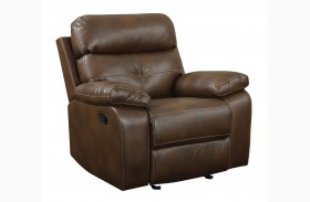 Damiano Faux Leather Glider Recliner