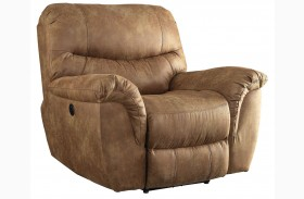 Hancox Light Brown Power Recliner